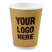 Custom Printed Cups Brown